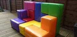 A Soma cube sofa