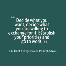 Quote on Prioritisation